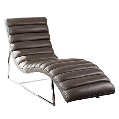 Bardot-Chaise-Lounge-W-Stainless-Steel-Frame-by-Diamond-Sofa-Black-BARDOTCA